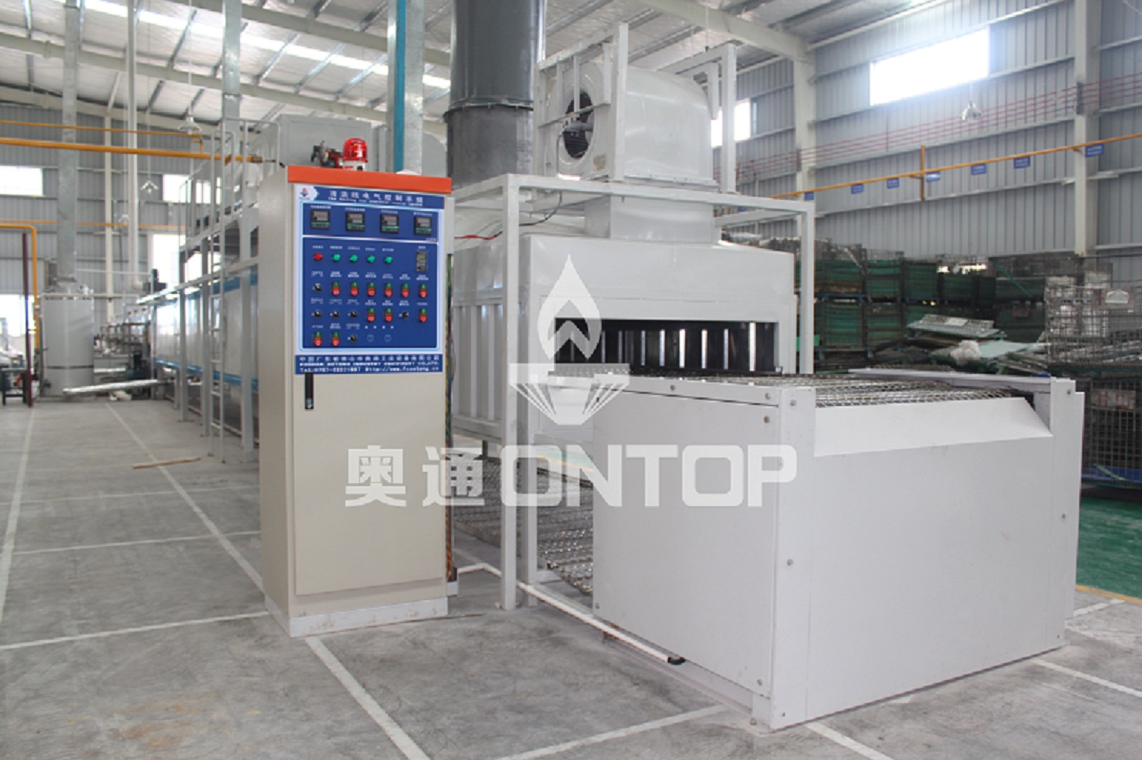 Plane conveying pretreatment line